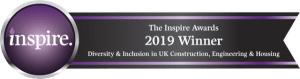 the winners badge for the most inspiring training programe 2019